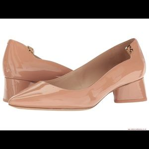 TORY BURCH Elizabeth Pump Beige Patent Leather